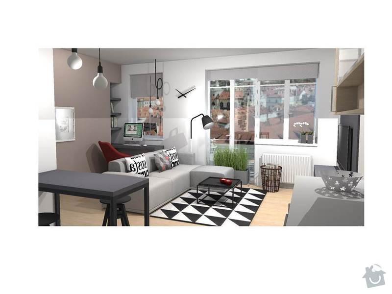 Návrh interiéru bytu 1+kk: Snimek2