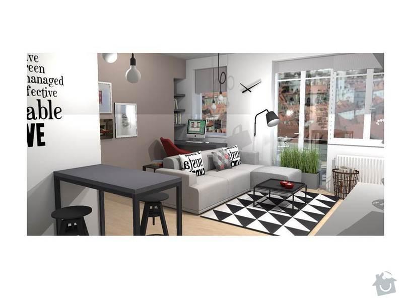 Návrh interiéru bytu 1+kk: Snimek3