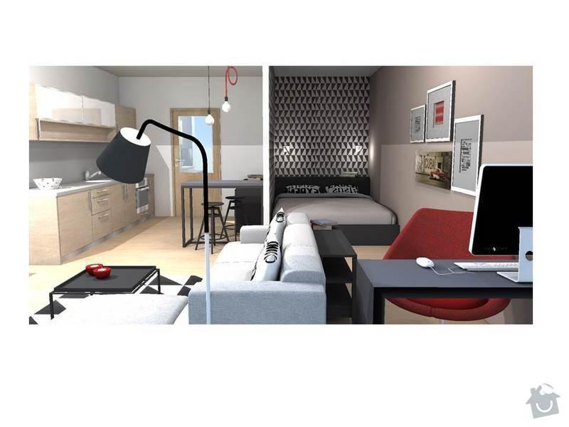 Návrh interiéru bytu 1+kk: Snimek4