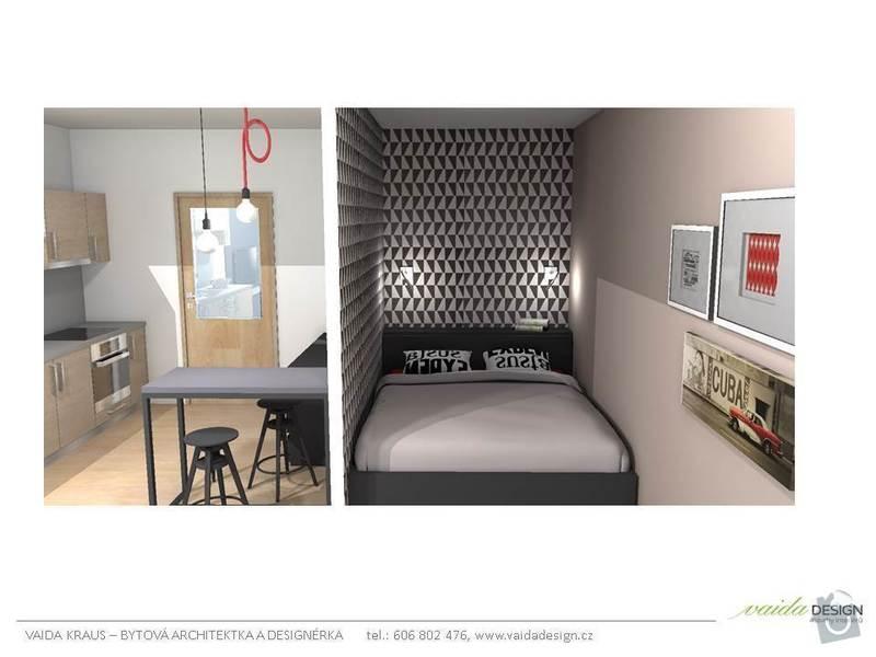 Návrh interiéru bytu 1+kk: Snimek5