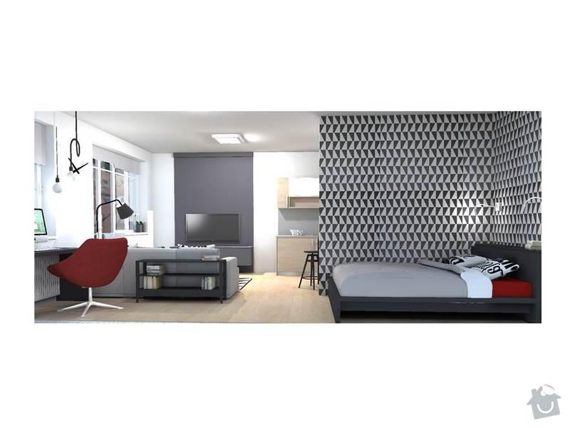 Návrh interiéru bytu 1+kk: Snimek6