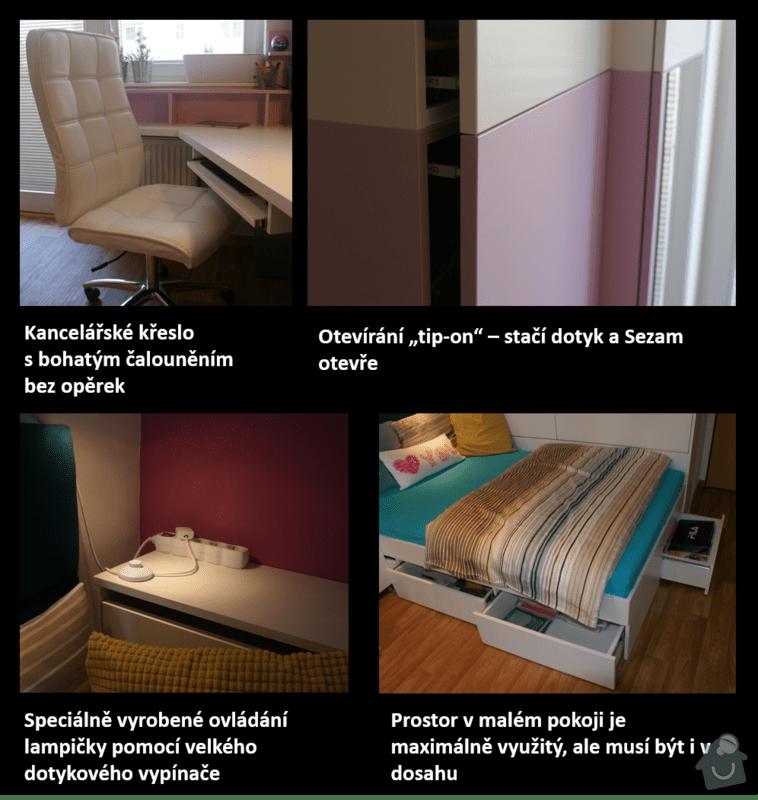 Rekonstrukce pokoje pro dceru (18), vozíčkářku: Detaily