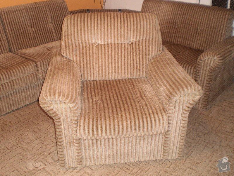 Potah a molitan sedačky a křesla: Kreslo
