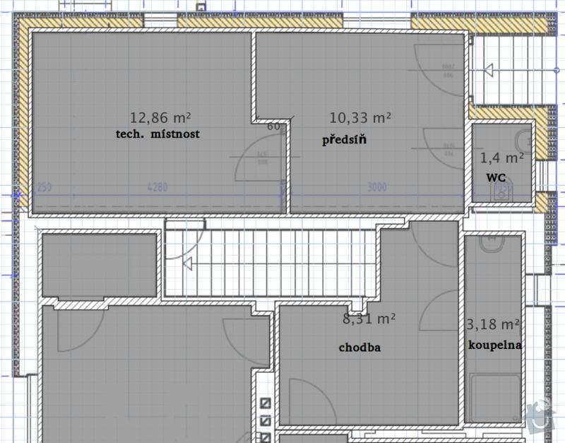 Provedení obkladů koupelna + WC, položení dlažby: planek