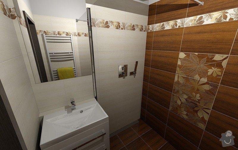 Koupelna Zednické a obkladačské práce: Vizualizace_1