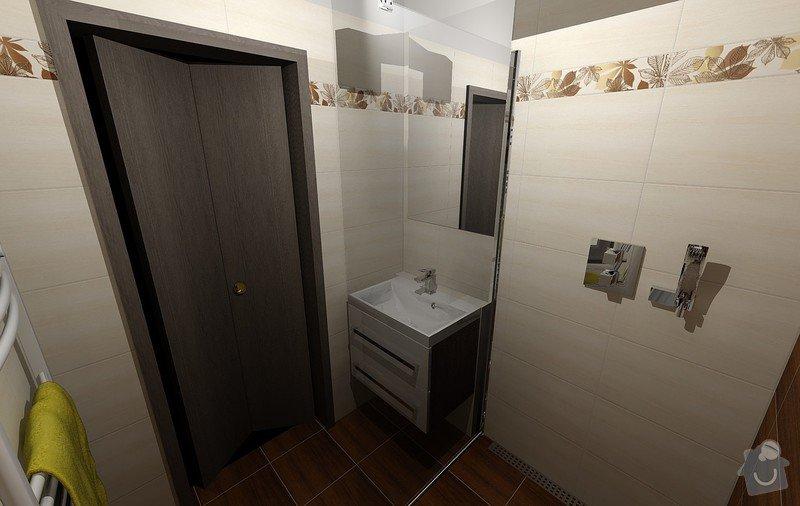Koupelna Zednické a obkladačské práce: Vizualizace_2