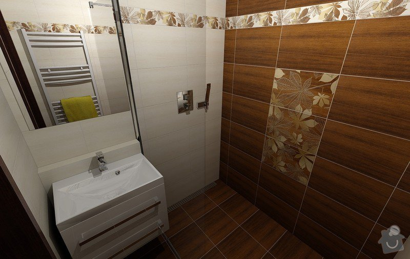 Koupelna Zednické a obkladačské práce: Vizualizace_4