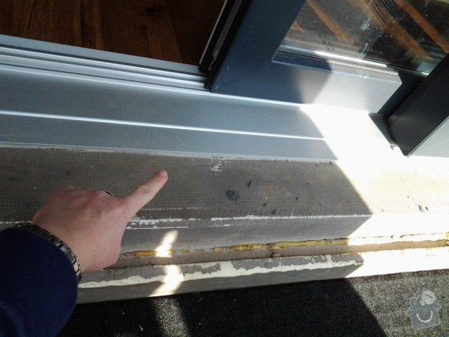 Klempíř - 3 ks stříbrný práh před fr. okny: prah