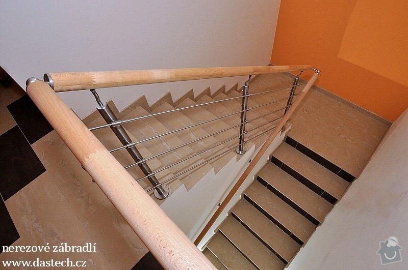 Obložení vniřního schodiště dlažbou: nerez_vodorovn_int_73F