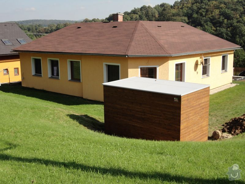 Poptávám výrobu, dodání a montáž zahradního domečku na nářadí: strecha