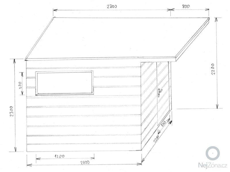 Poptávám výrobu, dodání a montáž zahradního domečku na nářadí: planek