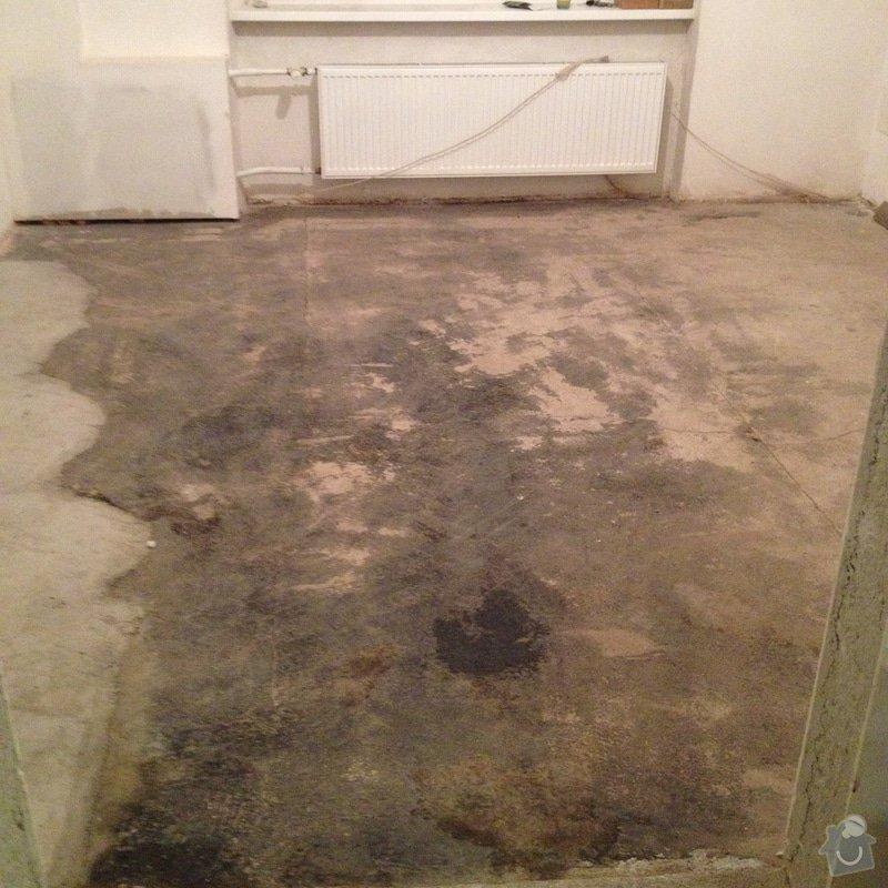 Úprava problematického betonu, vyrovnání podlahy, pokládka lepeného vinylu, obklad shodiště : IMG_3855
