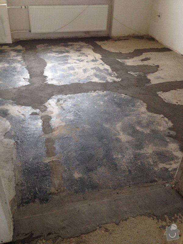 Úprava problematického betonu, vyrovnání podlahy, pokládka lepeného vinylu, obklad shodiště : IMG_3906