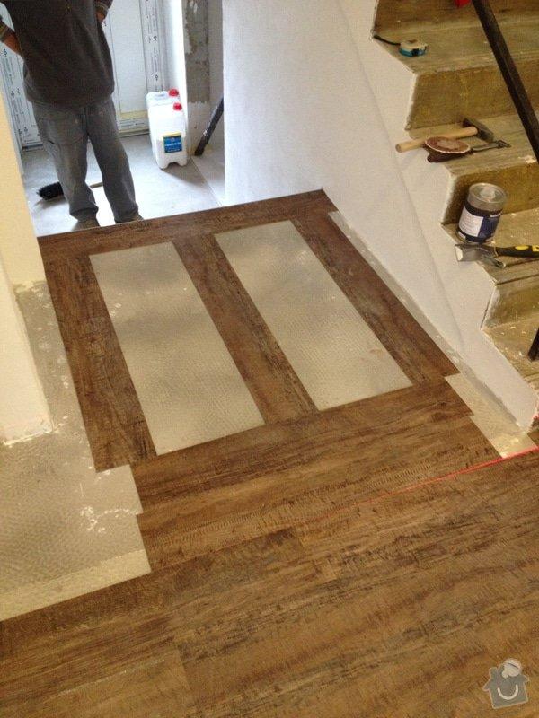 Úprava problematického betonu, vyrovnání podlahy, pokládka lepeného vinylu, obklad shodiště : IMG_3980