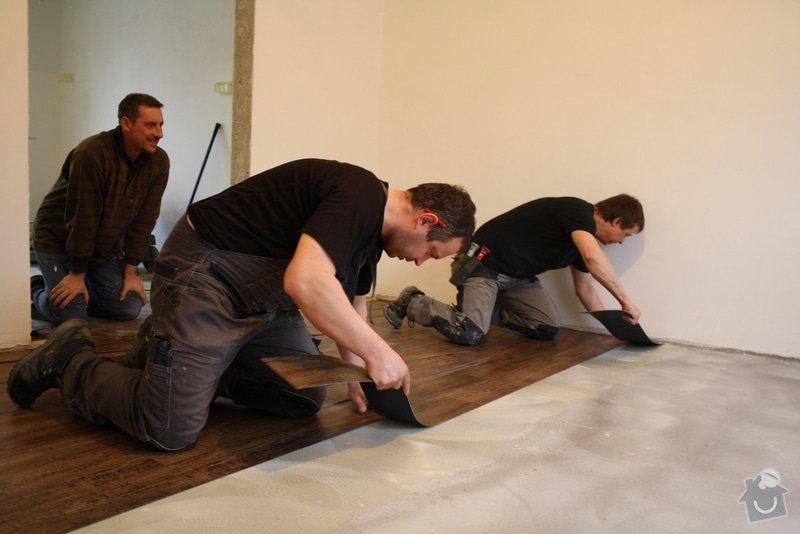 Úprava problematického betonu, vyrovnání podlahy, pokládka lepeného vinylu, obklad shodiště : IMG_3986