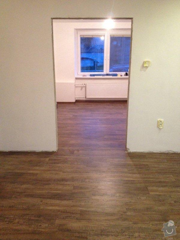 Úprava problematického betonu, vyrovnání podlahy, pokládka lepeného vinylu, obklad shodiště : IMG_3994