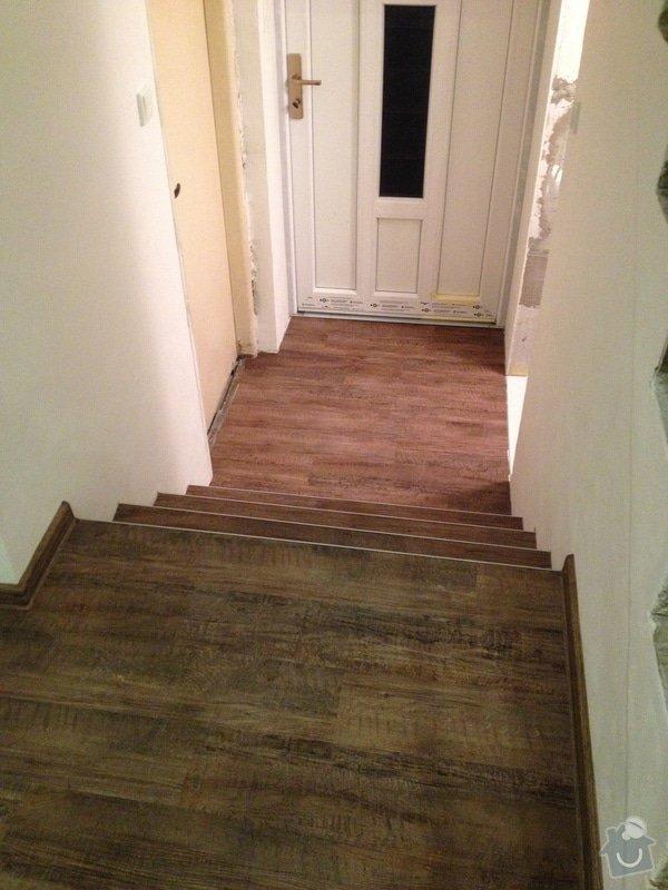Úprava problematického betonu, vyrovnání podlahy, pokládka lepeného vinylu, obklad shodiště : IMG_4002