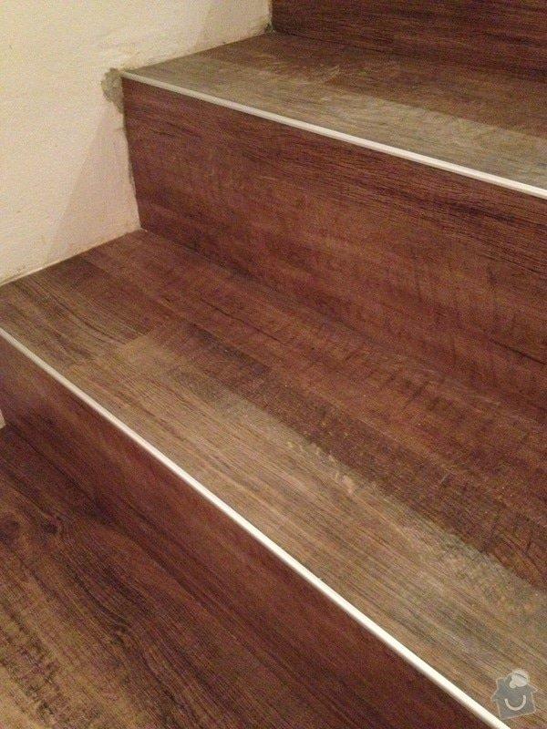 Úprava problematického betonu, vyrovnání podlahy, pokládka lepeného vinylu, obklad shodiště : IMG_4006