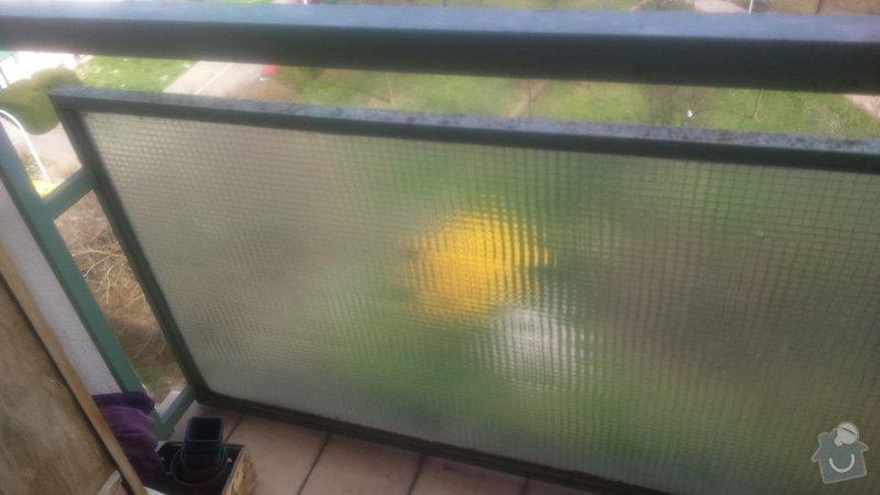 Výměnu skla na balkóně za jiné čiré: DSC_0126