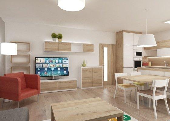 Návrh obývaciho pokoje s kuchyni