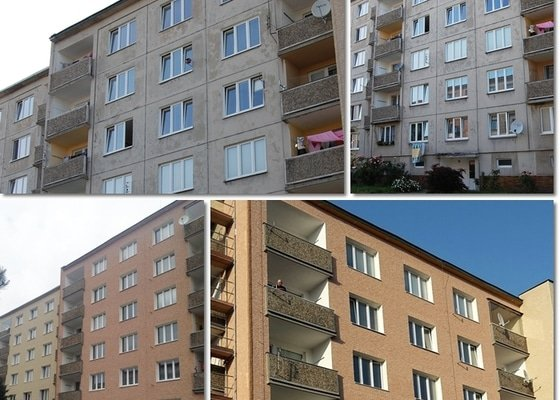 Zateplení a fasáda panelového domu