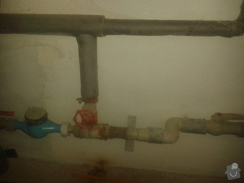 Úpravu vodovodní přípojky: 20150413_180340