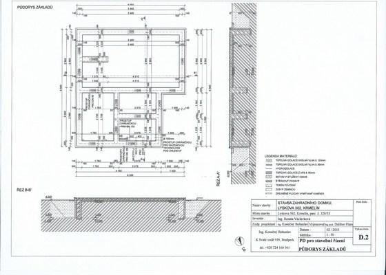 Sklípek 3mx5m, betonová deska, výkopy
