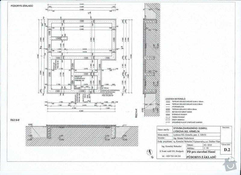 Sklípek 3mx5m, betonová deska, výkopy : 002