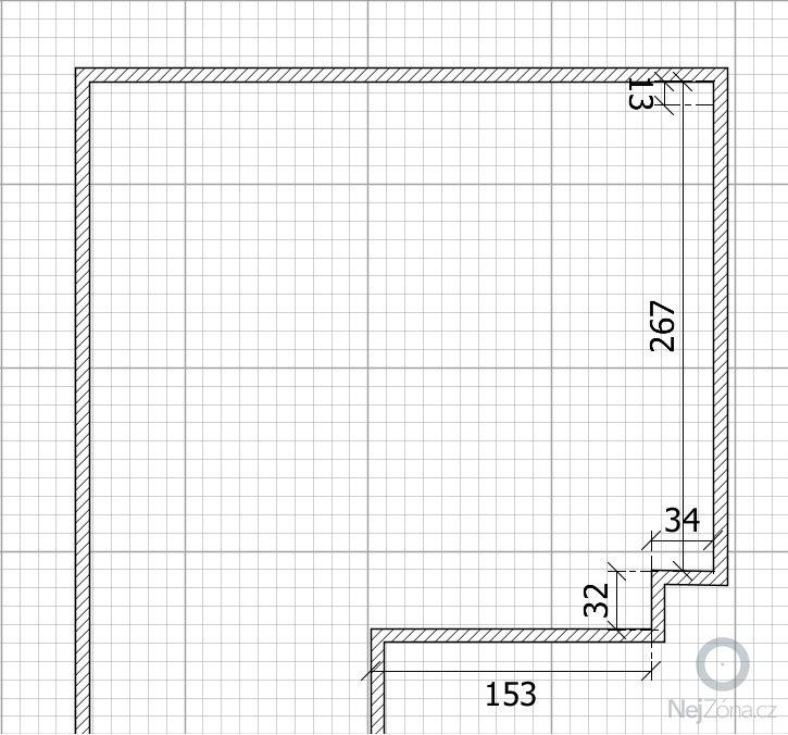 Zhotovení kuchyňské linky: Pudorys_kuchyne