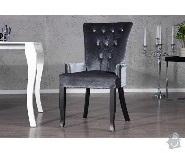Čalouněná židle s područkami: file0004423