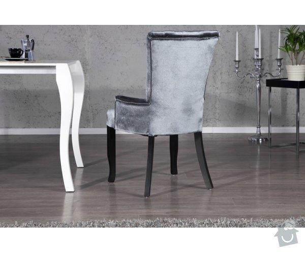 Čalouněná židle s područkami: file0004425