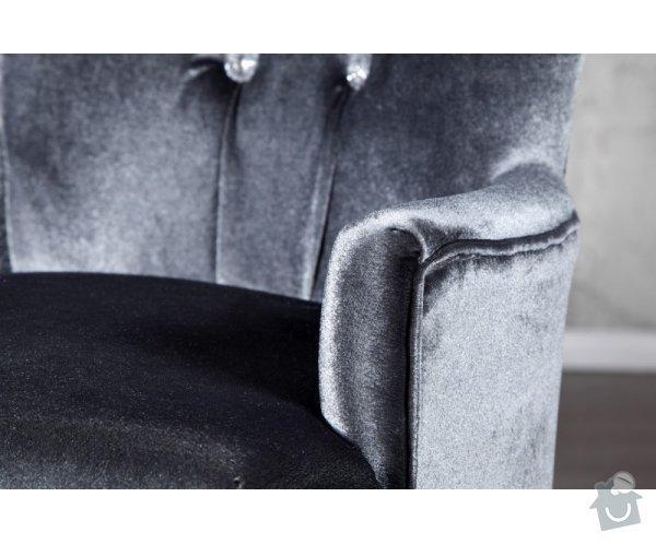 Čalouněná židle s područkami: file0004426