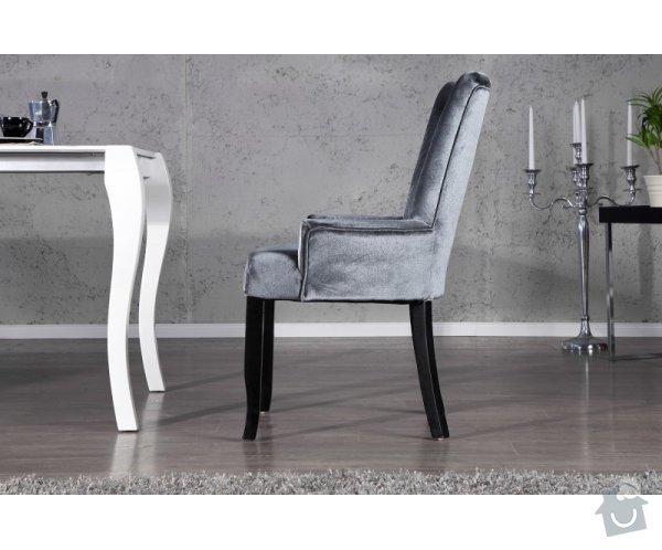 Čalouněná židle s područkami: file0004424