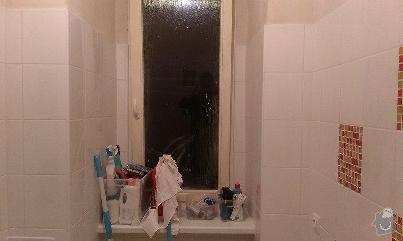 Rekonstrukce koupelny, příprava pro kuchyňský kout: IMAG1447
