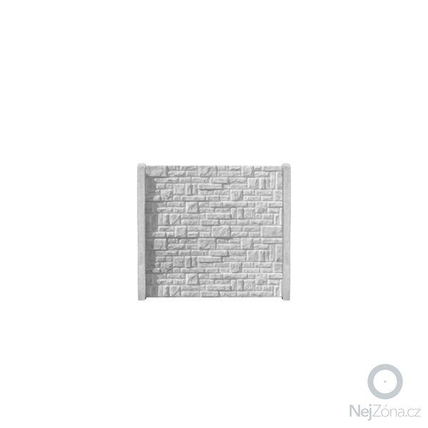 Zhotovení pevného betonového plotu: betonovy-panel-rovny-jednostranny-200x50x4-skladany-kamen-prirodni