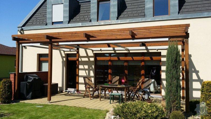 Instalace krytí zahradní pergoly u domu: 20150419_141620