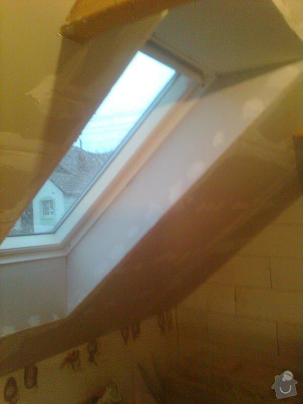 Oprava podkroví - nové schodiště, zateplení střechy, 2 střešní okna: Obraz1736
