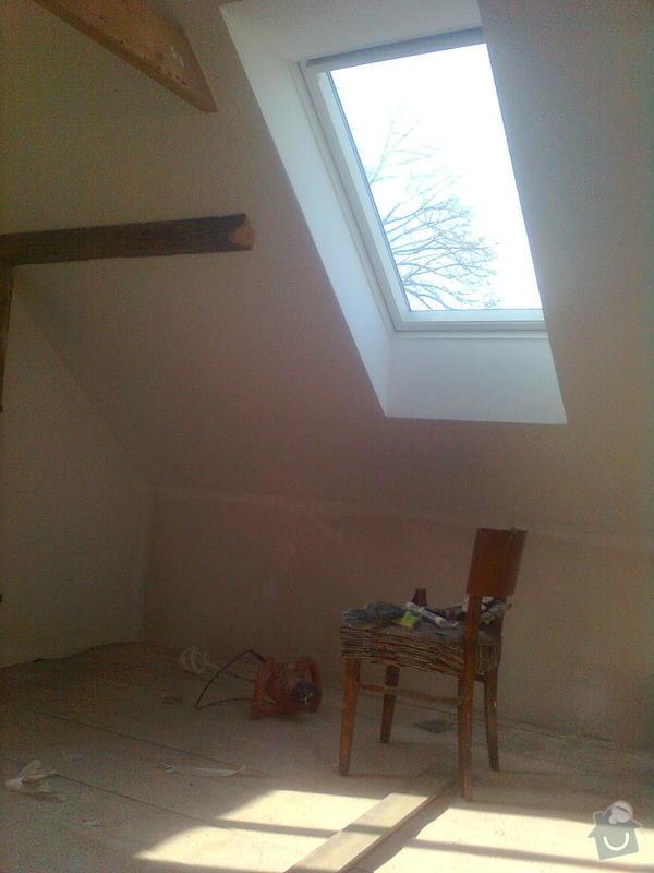 Oprava podkroví - nové schodiště, zateplení střechy, 2 střešní okna: Obraz1744