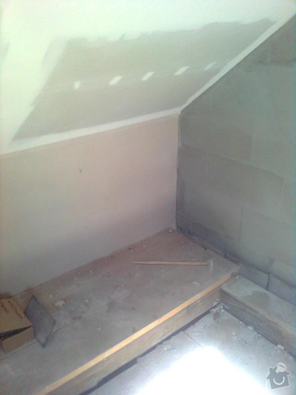 Oprava podkroví - nové schodiště, zateplení střechy, 2 střešní okna: Obraz1741