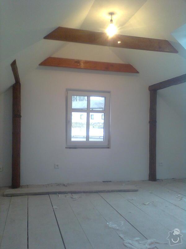 Oprava podkroví - nové schodiště, zateplení střechy, 2 střešní okna: Obraz1746