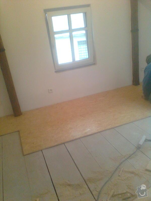 Oprava podkroví - nové schodiště, zateplení střechy, 2 střešní okna: Obraz1748