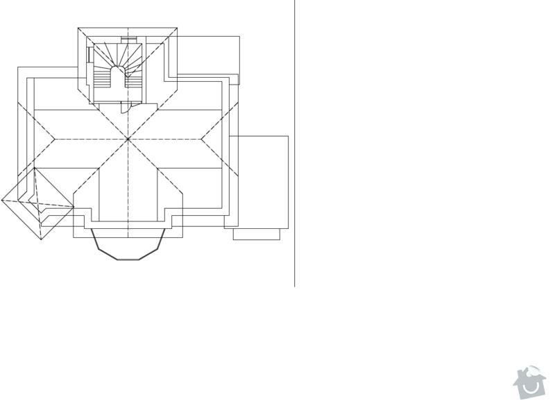 Rekonstrukce bytu v 1. patře a schodiště rodinného domu v Liberci: pudorys_podkrovi