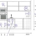 Priprava elektroinstalace vody a odpadu pro kuchnskou linku stena a