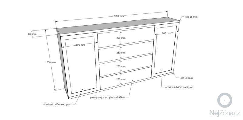 Dýhovaný nábytek do ložnice: komoda_01