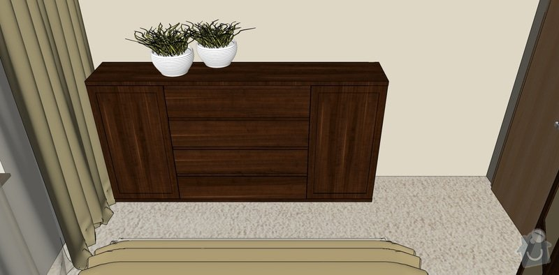 Dýhovaný nábytek do ložnice: komoda_03