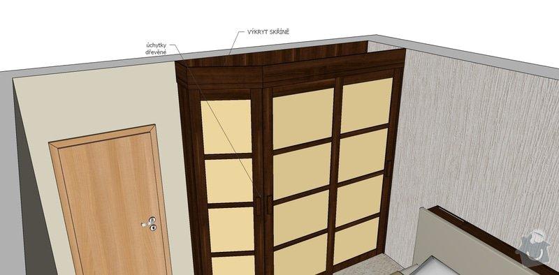 Dýhovaný nábytek do ložnice: skrin