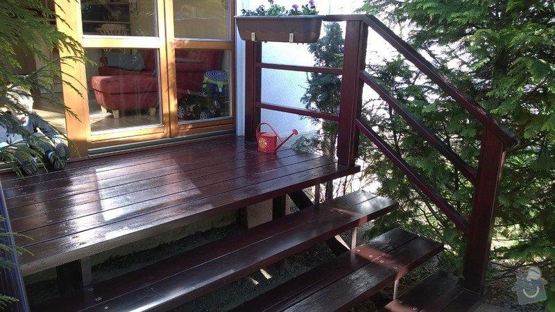 Dřevěné schody do zahrady: WP_20150419_004