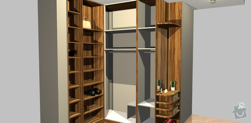 Botkík a šatní skříň: predsin_Varianta_A_Usporadani