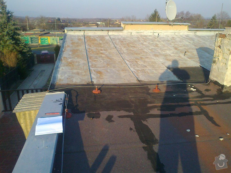 Pokrytí stávající pultové střechy cca 65m2.Sklon 8 až 11 stupnů.: Fotografie1193
