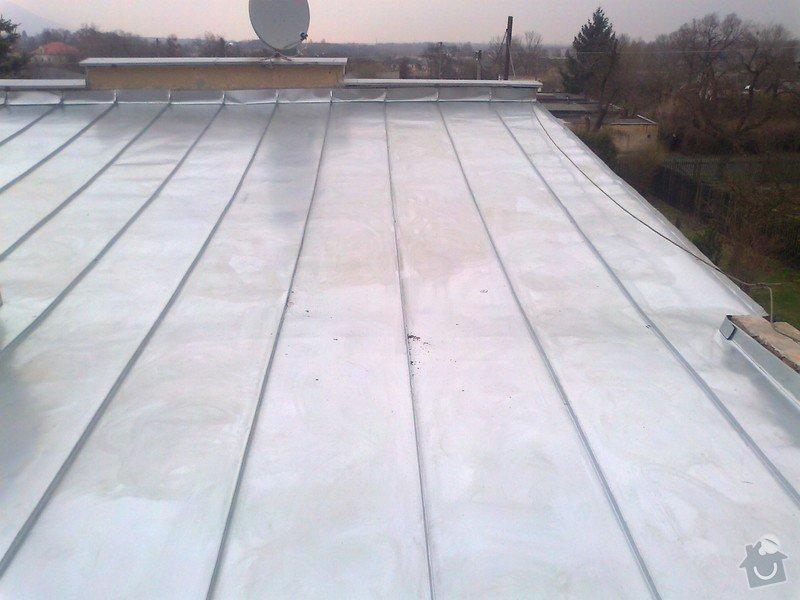 Pokrytí stávající pultové střechy cca 65m2.Sklon 8 až 11 stupnů.: Fotografie1278